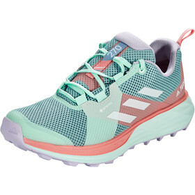 adidas TERREX Two Gore-Tex Trailrunning Schoenen Dames, ash grey/footwear white/glory pink